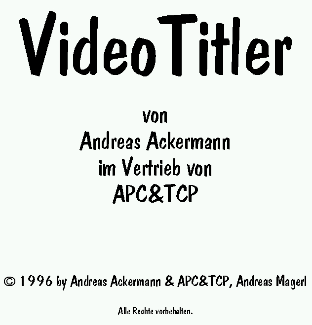 VideoTitler Manual german